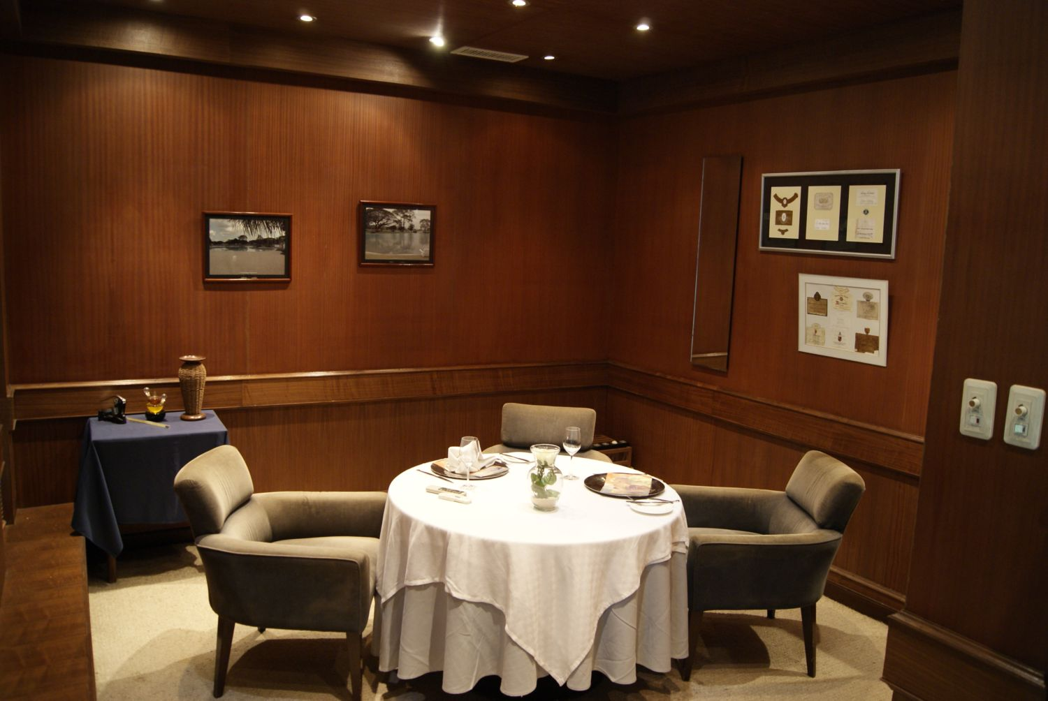 Private dining room restaurant