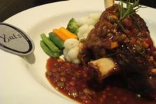 Braised Lamb shank popular with guests at this fine dining restaurant near Manila